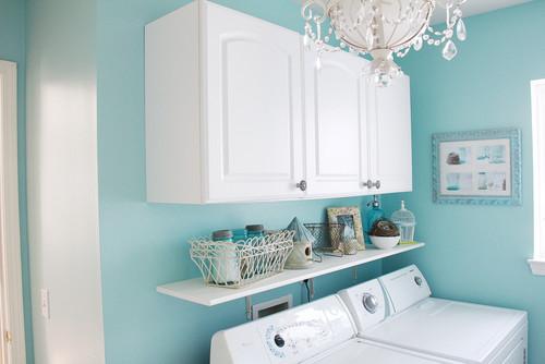 cheerful laundry room, laundry room decor