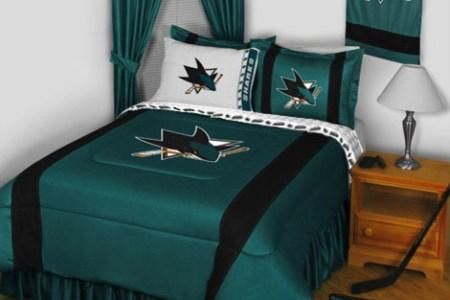 nhl san jose sharks bedding and room decorations modern
