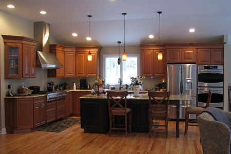 cherry cabinetry. traditional kitchen other metro