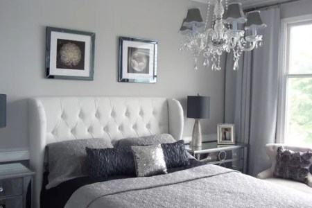 silver bedroom ideas, pictures, remodel and decor