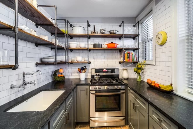 Eclectic Kitchen by PowerSmith Design