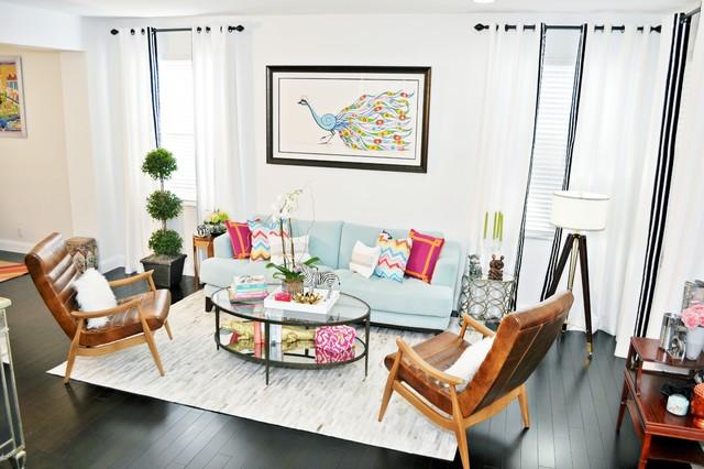 Weston Renovation contemporary-living-room