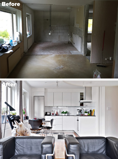 Living room | Apartment Q4 2015 | Before & After scandinavian
