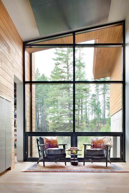 Mountain side Modern Nest modern-hall