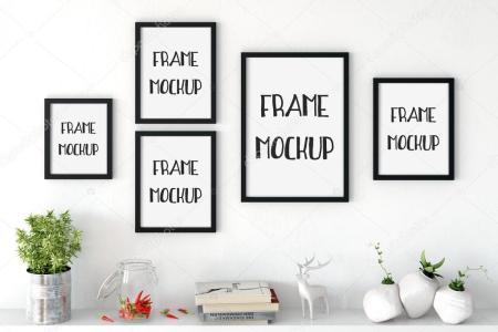 depositphotos 119375432 stock photo frame mockup poster mock up