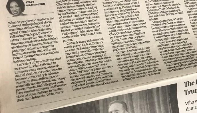 Stacy Washington, Columnist St. Louis Post Dispatch