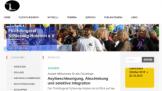 Screenshot der Startseite des Flüchtlingsrates SH
