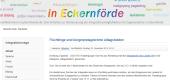 """Screenshot der Startseite von """"Willkommen in Eckernförde"""""""