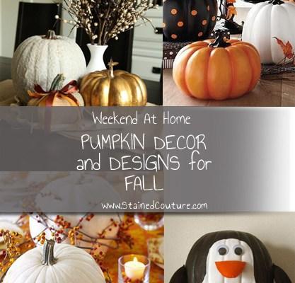 Weekend At Home: Pumpkin Decor and Design