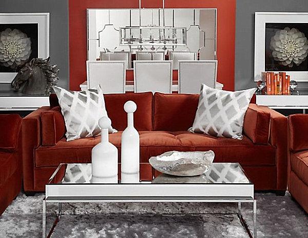 rust-color-velvet-sofa