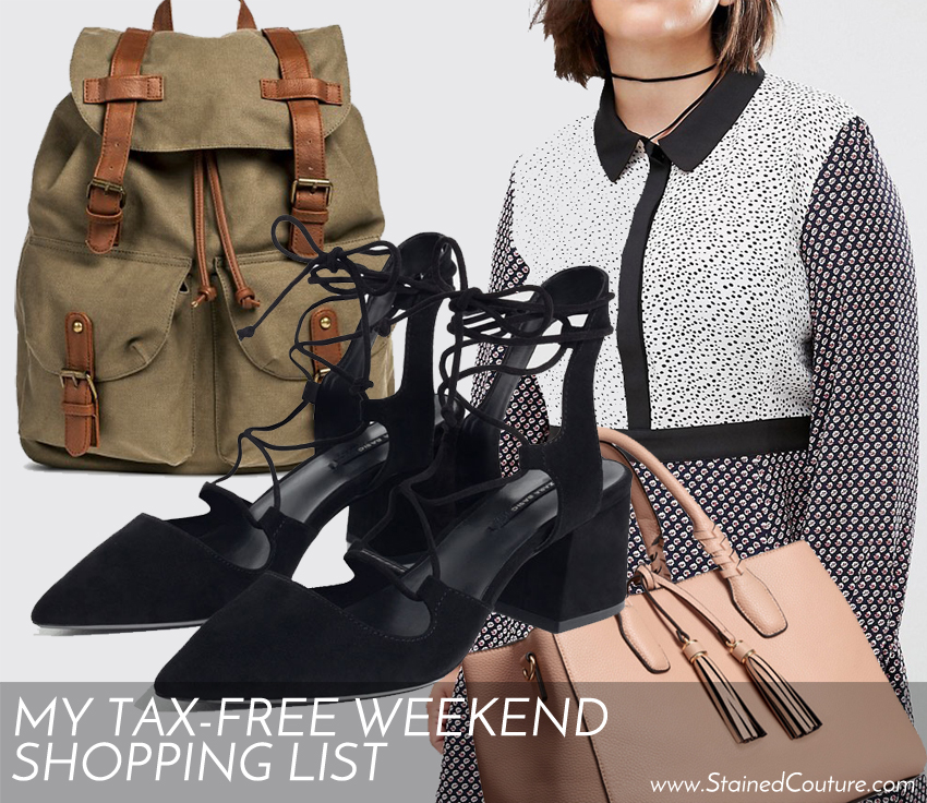 tax-free weekend shopping list