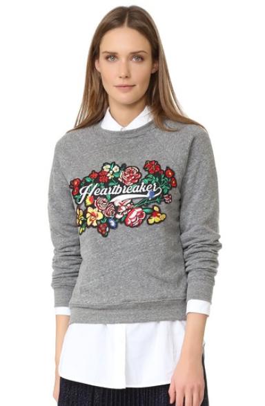stylish graphic sweatshirt heartbreaker