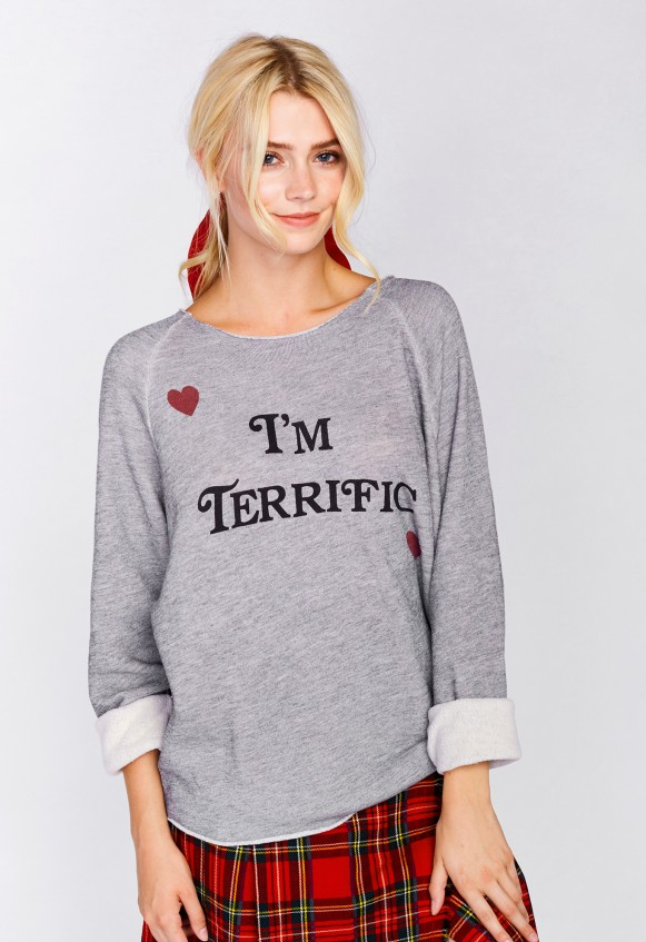stylish graphic sweatshirt im terrific