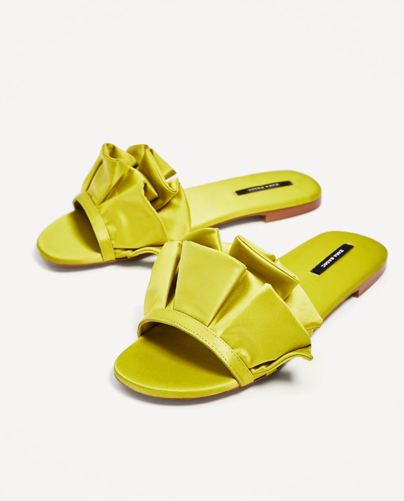 shies from zara frilled slides