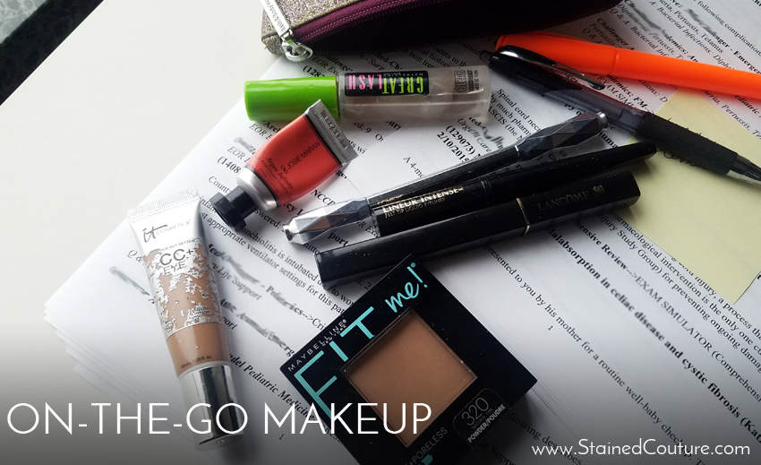 on-the-go makeup when running late