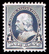 1¢ Franklin - dull blue