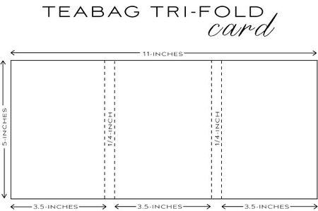 Freebie Tea Bag Gift Holder Template Stamping