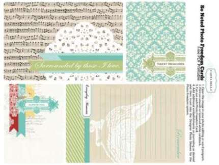 Freebie: Journaling Cards