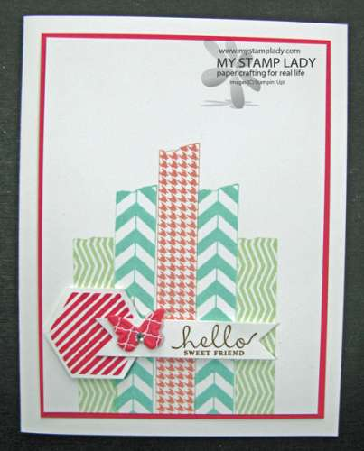 Project: Card with Faux Washi Tape