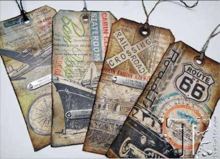 Project: Stamped Travel Tags