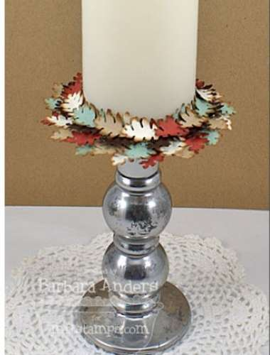 Project: Fall Leaves Paper Candle Ring