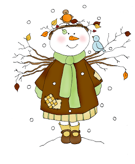 Freebie: Snow Angel Digital Stamp