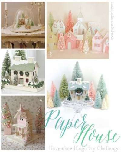 Ideas and Freebie: Paper House Pattern