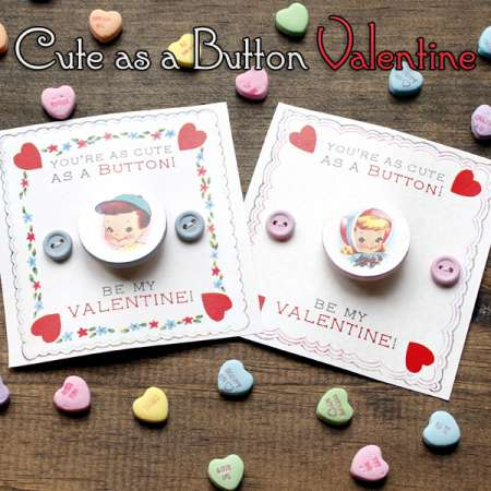 Freebie and Project: Button Valentine's