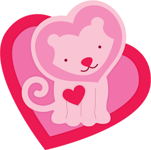 Freebie: Lion Valentine Die Cut