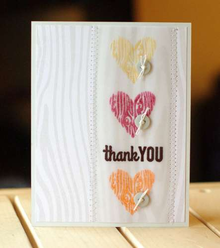 Project: Stamped Vellum Thank You Card