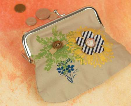 Project: Stamped Fabric Purse