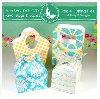 Freebie: Favor Boxes Die Cut