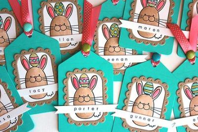 Project: Stamped Bunny Tags