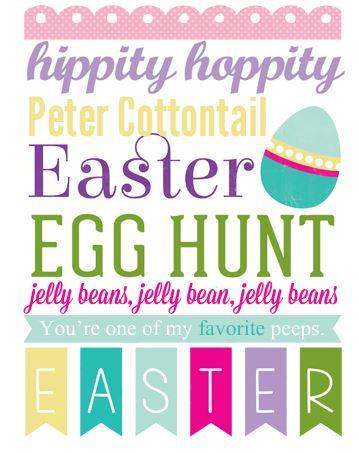 Freebie: Easter Printable
