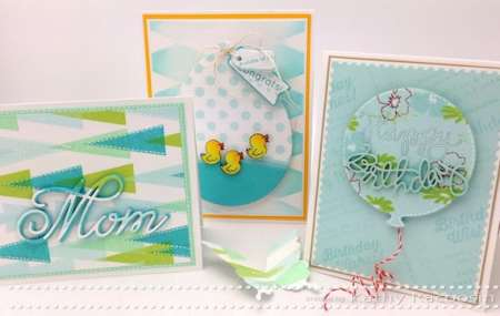 Tutorials: Bright Stamped Cards