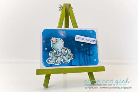Project: Octopus Card with Stamps and Sprays
