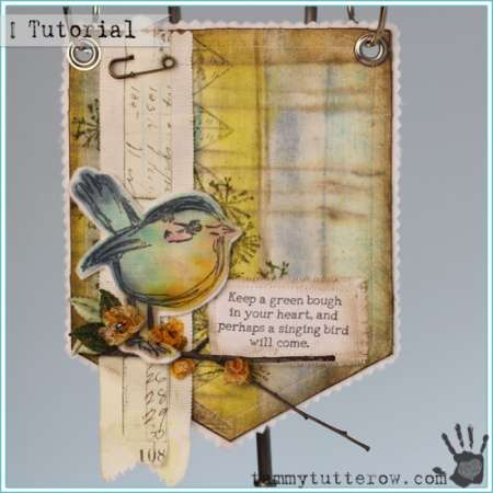 Project: Stamped Fabric Bird Banner