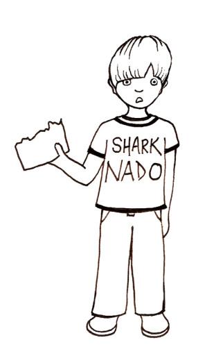 Freebie: Funny Sharknado Digital Stamp