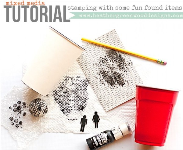 Tips: Stamping with House Hold Items