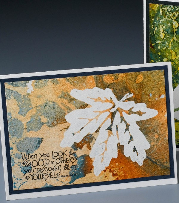 Project: Marbled Fall Leaf Card