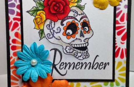 Project: Day of the Dead Card