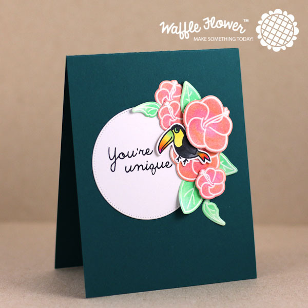 Project: Tropical Card with Blended Gelato Coloring Technique