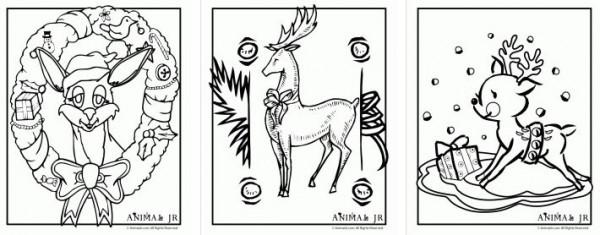 Freebie: Reindeer Coloring Pages