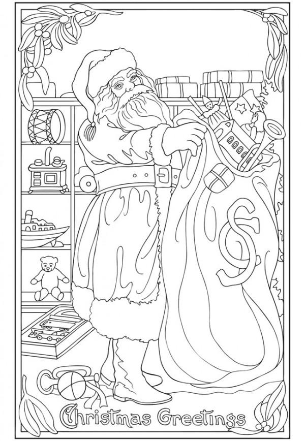 Freebie: Santa Clause Coloring Page