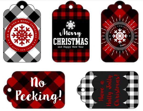 Freebie: Plaid Holiday Gift Tags