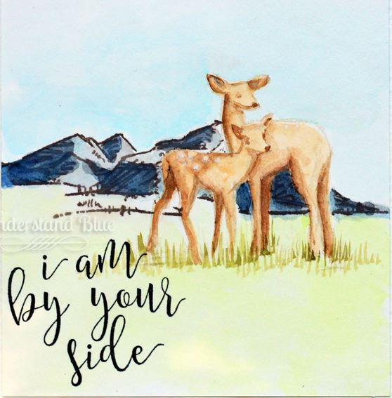 Project: Water Colored Deer Card