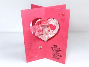 Project: Valentine Four Way Card