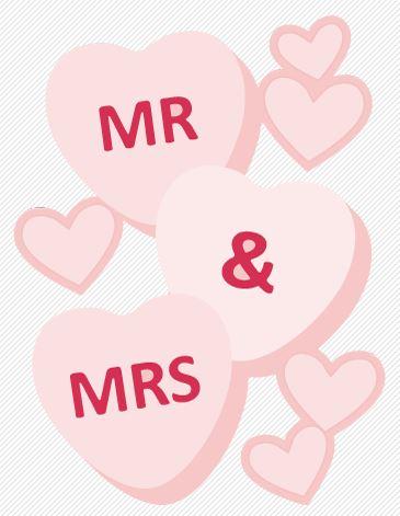 Freebie: Mr. and Mrs. Hearts Die Cut