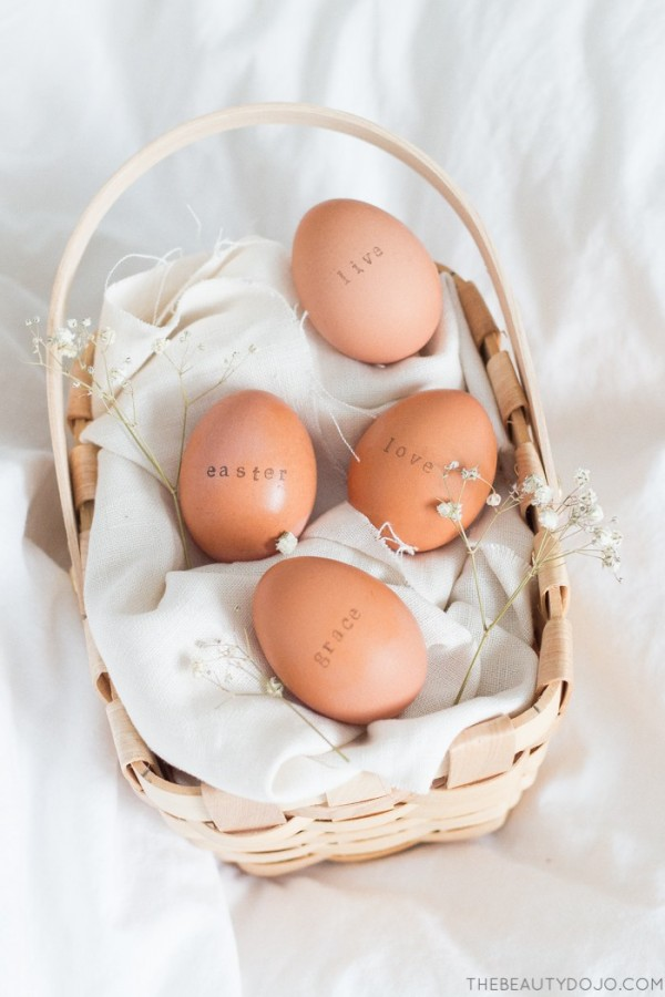 Project: Stamped Easter Eggs
