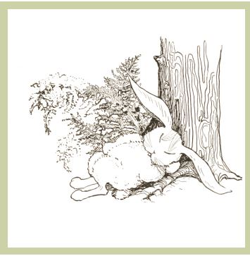 Freebie: Sleeping Bunny Digital Stamp